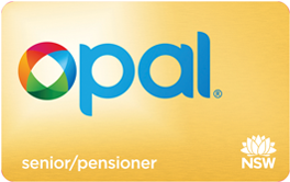Gold Senior/Pensioner Opal card