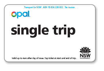 Single trip ticket