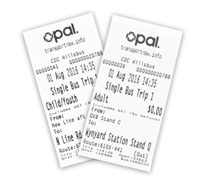 Opal bus ticket