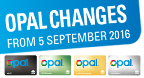 Opal fare changes